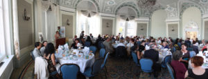 Beautiful room full of people for luncheon
