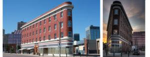 WEAC building, historic flat iron building Edmonton